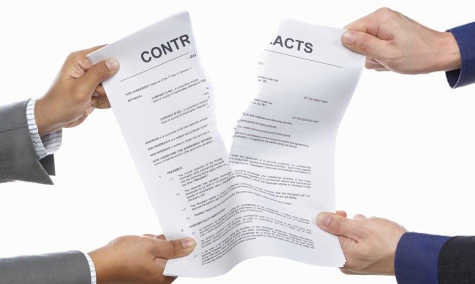 ruprutre contrat